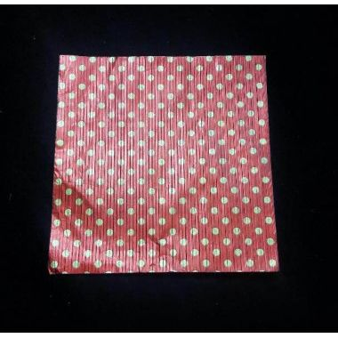 Red with golden dots- Aluminium Foil
