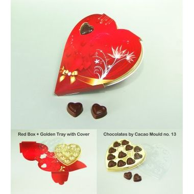 Red sweet heart box (Rs.45/-)