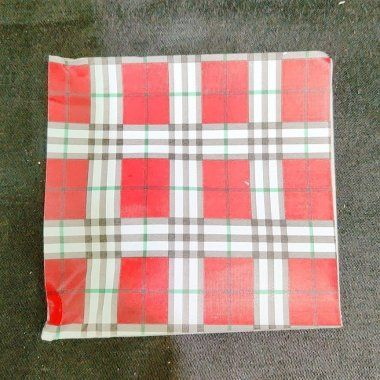 Red Burberry foil